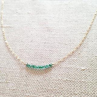 Genuine smeraldo collana, collana, gioielli collana Reale smeraldo, smeraldo, Maggio Birthstone smeraldo, smeraldo collana...