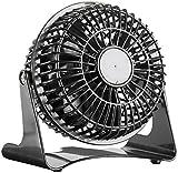 Sichler Haushaltsgeräte Kleiner Tischventilator: Kompakter Tisch-Ventilator VT-111.T, 14 Watt, Ø 11 cm (Tischventilator leise)