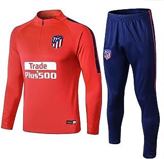 Erwachsene Rote Kapuze Fu/ßball Uniform Langarm Trainingsanzug AC Milan Football Club Sportswear Herren Wettbewerb Sweatshirt Anzug