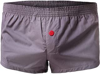 Greatfun Underwear Mens Sexy Elastic Underwear Men Boxer Briefs Bulge Pouch Shorts Cotton Soft Underpants All Seasons Comfortable Breathable Sport Underwear Black