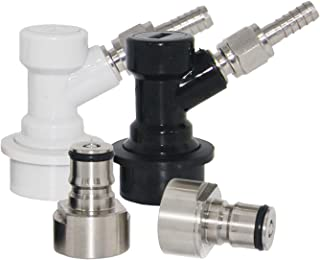 Ball Lock Keg Coupler Adapter - Stainless Steel Ball Lock Quick Disconnect Conversion Kit for Home Brewing