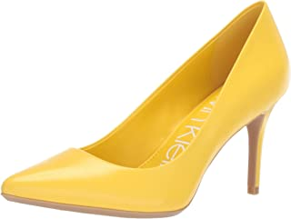 Calvin Klein Womens Gayle Yellow Size: 6 US