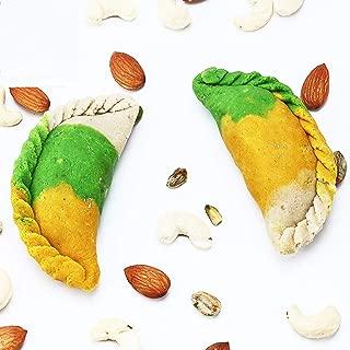 Ghasitaram Gifts Indian Sweets (Mumbai), Holi Sweets, Authentic Indian, Kaju Tirangi Gujiya 200 Grams