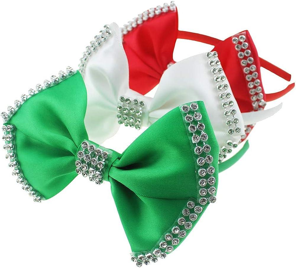 3PCS hair hoop Fashion Cute Red Bow Headband for Girls Toddlers.(LDZ30)