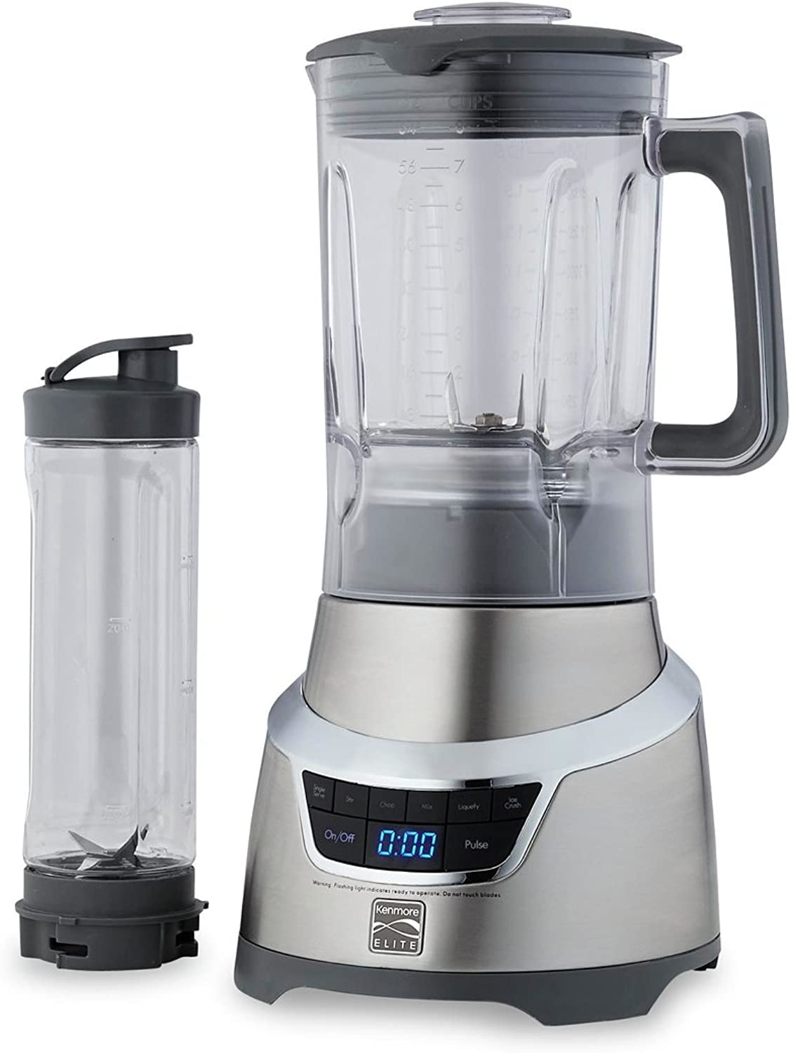 Kenmore Elite 76773 1.3 Horsepower Blender with Single Serve Cup in Stainless Steel