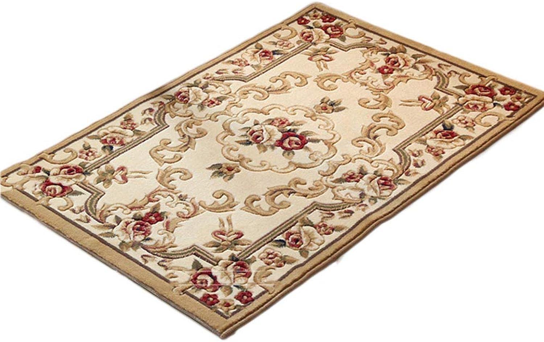 Cotton Linen Non Slip Door mat,Indoor Outdoor Entrance Rug Floor mats shoes Scraper Bathroom Kitchen Household Water Absorption Carpet-B- 80x120cm(31x47inch)