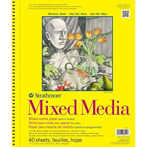 "Strathmore (362-11) 300 Series Mixed Media Pad, 11""x14"", 40 Sheets"