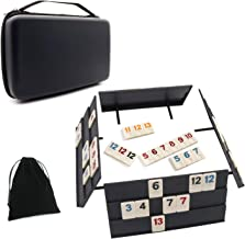 Rummy Game 106 Tiles Rummy Outlasting Color with Shockproof Case & 4 Anti-Skid Durable Trays for Kids
