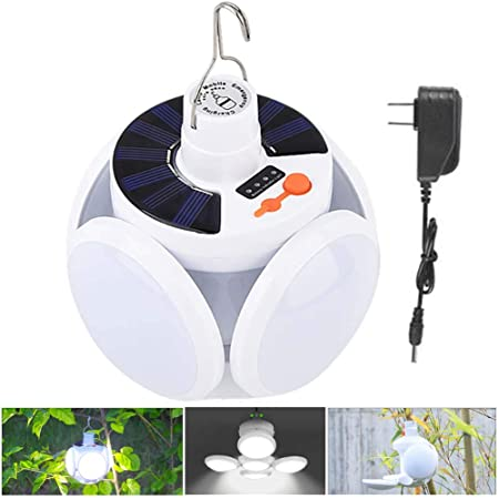 USA Freshipping Portable solar LED power-saving lamp Indoor//Outdoor//Camp//Car