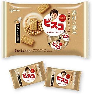 江崎グリコ ビスコ素材の恵み大袋(大豆) みるく&きな粉 36枚 ×6袋