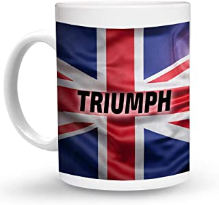Makoroni - TRIUMPH British, England, United Kingdom Flag - 11 Oz. Unique COFFEE MUG, Coffee Cup