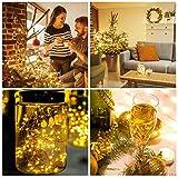 (12 Stück) Flaschenlicht Batterie, kolpop 2m 20 LED Glas Korken Licht Kupferdraht Lichterkette für flasche für Party, Garten, Weihnachten, Halloween, Hochzeit, außen/innen Beleuchtung Deko (Warmweiß) - 6