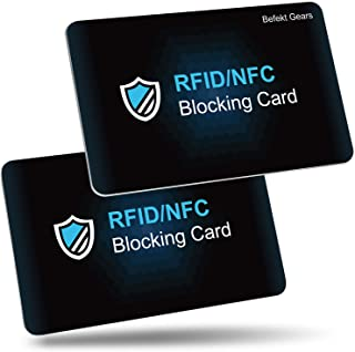 RFID/NFC Blocking Card by Befekt Gears [2 Pack], Credit Card Protector, Contactless Cards Protection for Credit cards, ID ...