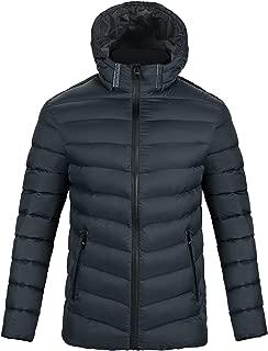Men Hooded Puffer Jacket Coat Winter Warm Lightweight Padded Windproof Outwear