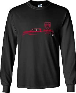 Dodge RAM Red Truck Long Sleeve T-Shirt Heavy Duty Pickup Truck Tee