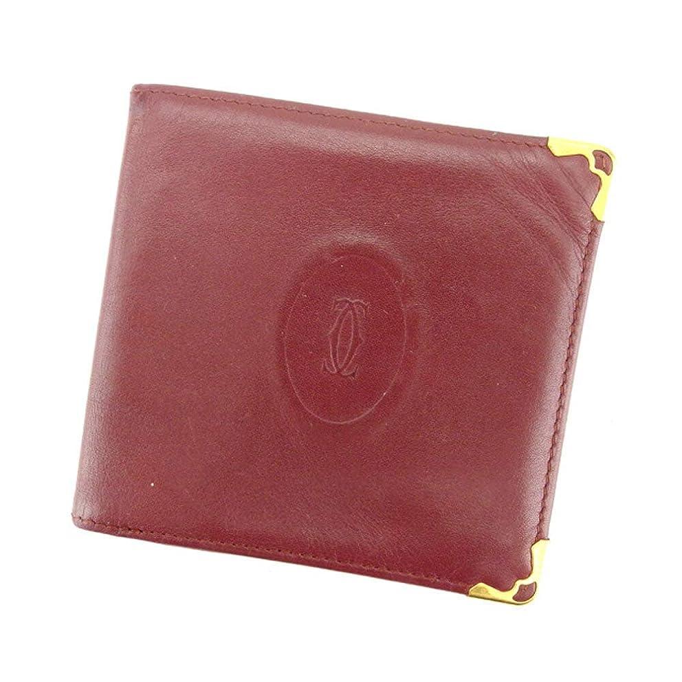 住人励起ぴったり(カルティエ) Cartier 二つ折り 札入れ 二つ折り 財布 ボルドー マストライン レディース メンズ P761