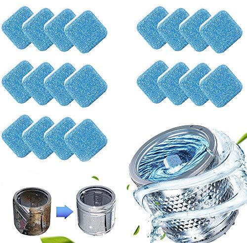QIRU Multi-Functional Washing Machine Tub Cleaner Effervescent Tablets, Solid Washing Machine Cleaner, Washer Cleaner Tablets,Effervescent Washing Machine Cleaner (20 Pcs)