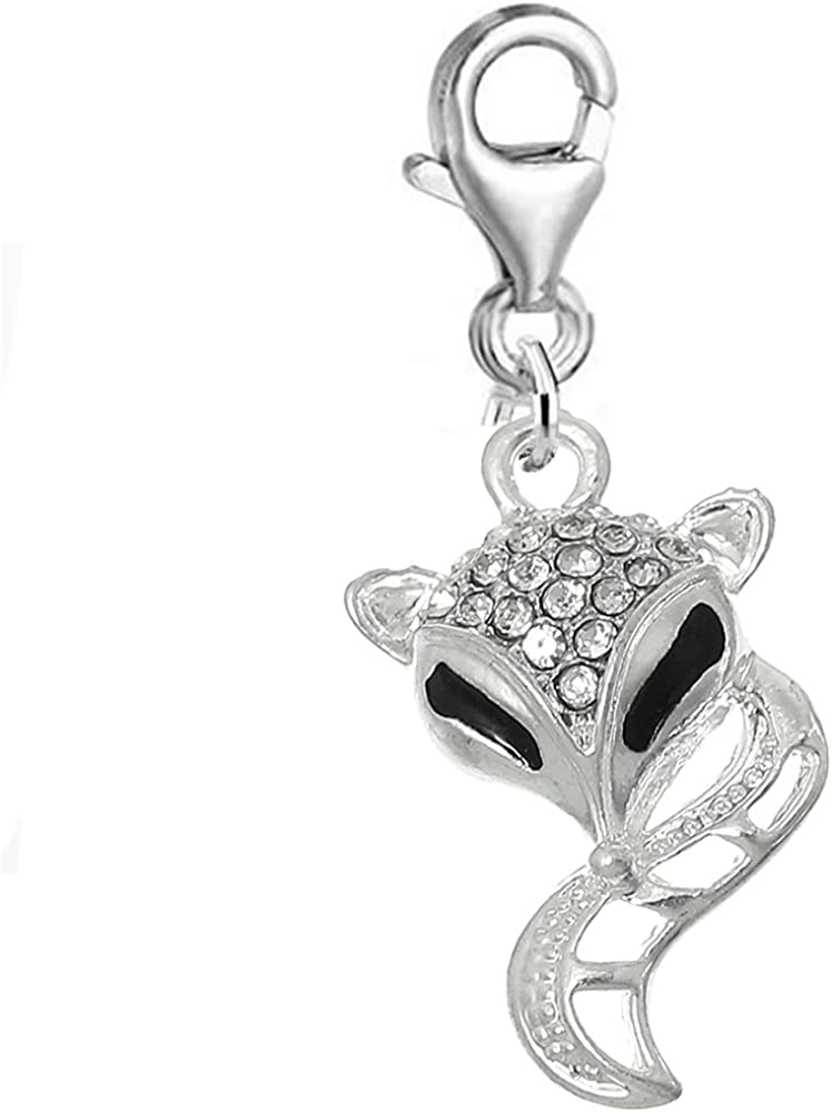 Sexy Sparkles Fox Popular shop is the lowest price challenge Clip Japan's largest assortment on Bracelet Pendant Charm for Europea