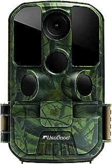 [New Version] Usogood Trail Game Camera 20MP 1080P No Glow Night Vision Hunting Camera Motion Activated IP66 Waterproof 2.4