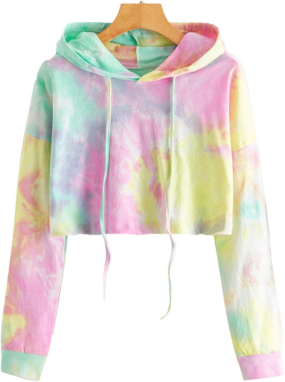 SweatyRocks Women's Purchase Tie Dye Long Workout Top Sleeve Crop Sales of SALE items from new works Sweatsh