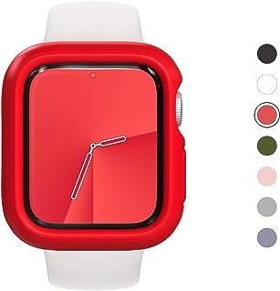 RhinoShield Apple Watch Series4/5/6/SE [44mm用] 保護ケース   衝撃吸収 傷防止 スリムデザイン BPAフリー [1.2Mの耐落下衝撃] - レッド