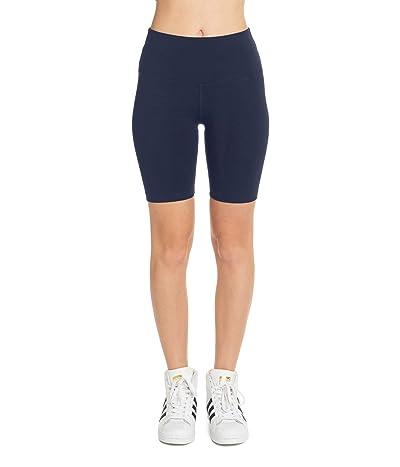 Hard Tail Flat Waist Bike Shorts (Dark Denim) Women