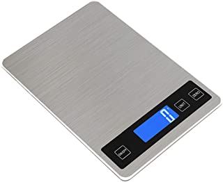 OrchidAmor Digital Kitchen Scale Balance Slim Stainless Steel Electronic Scales 15KG 1g
