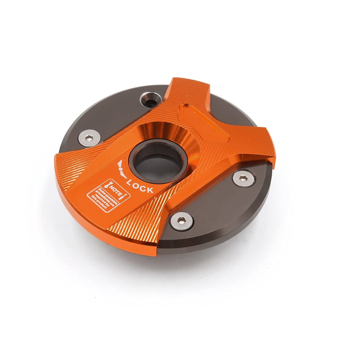 Uxcell a17031000ux2009 Orange Aluminium Alloy Motorcycle Fuel Tank Gas Cap Cover for Yamaha BWS 125 100