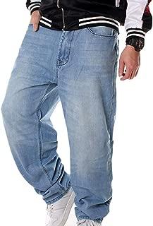 Pantalones Vaqueros Holgados de Hip Hop para Hombres Talla Grande 30-46 Bolsillos m/últiples Pantalones Vaqueros de Carga para Hombres Joggers t/ácticos de Mezclilla