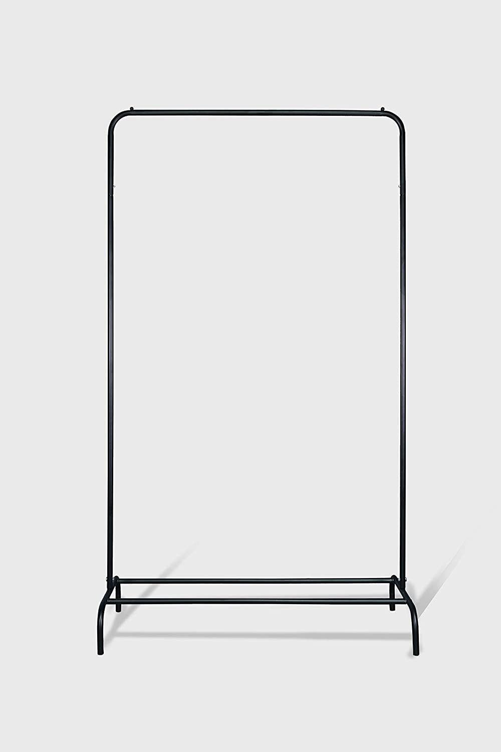 Simple garment rack easy moved Free shipping anywhere in the Over item handling ☆ nation black color metal
