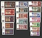 *** 5, 10, 20, 50, 100, 200, 500 DDR Mark Banknoten 1955,64,71 Alte Währung 3 Sätze - Alte DDR Währung - Pick 017 - 33 - Reproduktion ***