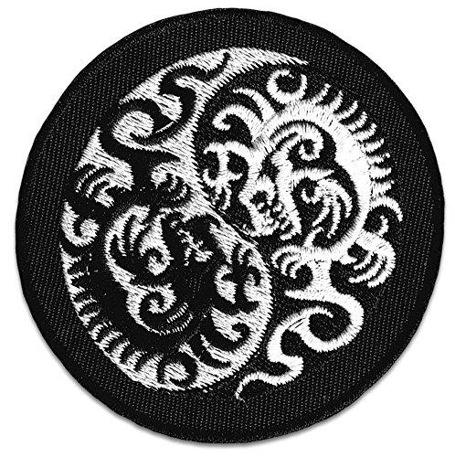 Yin & Yang Dragón parche planchar Patch Tattoo Japón
