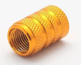 5X Ventilkappen Zylinder Farbe: Gold Golden Ventilkappe VGO