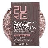 Jabón en barra para champú para el cabello, 4 tipos de jabón para el cabello con suero vegetal opcional para hombre y mujer, ingredientes orgánicos naturales hidratantes(polygonum)