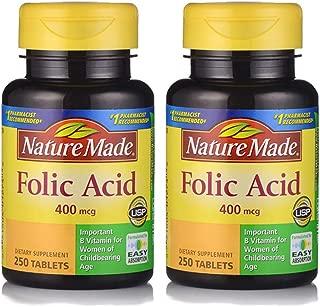 Nature Made 莱萃美 叶酸营养片400mcg 250片 (2瓶)