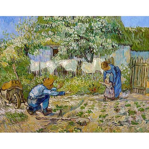 ZHXXFD Nowe malowanie według numerów dla dorosłych dzieci kolor według numerów zestawy pierwszych kroków-Vincent-Van-Goghh rama do malowania według numerów płótno akrylowe farby cyfrowe zestawy rzemieślnicze (A186)