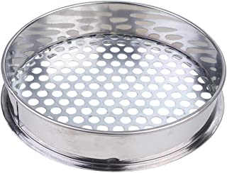 YARNOW Sifting Pan Mesh Screen Garden Sieve Riddle Stainless Steel Soil Sieve Gardening Supply Seeding Cultivation Tools 2...