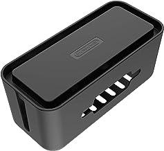 NTONPOWER Grande Câble Boîte de Rangement, 430 x180 x160 mm, Anti-poussière, Antidérapant, Avec Support de Smartphones, Bo...