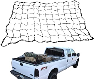Van Pad 4'x6' Bungee Cargo Net with Hooks for Truck Bed and Cargo Racks. Incudes 18 Polymer Hooks and Bonus: Easy-Store Storage Bag
