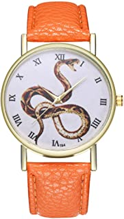 Female Watch for Small Wrist,Ladies Wrist Watches on Clearance,Dress Watch,Stainless Steel Watches for Women,Dress Watches (Orange)