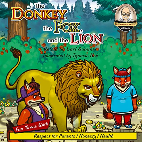The Donkey, Fox, and the Lion audiobook cover art