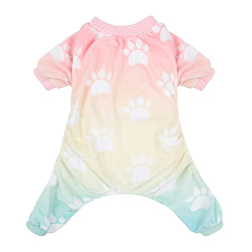CuteBone Dog Pajamas Gradient Color Dog Apparel Dog Jumpsuit Pet Clothes  Shirt Puppy Pjs P09M- 796469888