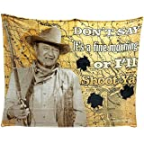 Midsouth Products Tongtai John Wayne I'll Shoot You 50x60 Throw Blanket