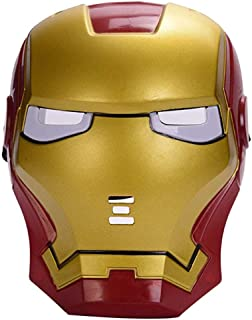 Morningsilkwig Marvel Avengers Mask Iron Man Mask Glowing Costume Light Eye Mask Super Hero Ironman Party Cosplay Mask for Halloween Parties
