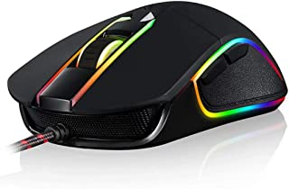 MOTOSPEED USB Wired 3500DPI Gaming Mouse Support Macro Programming, with 6 Buttons, Adjustable RGB Backlit, 6 Adjustable D...