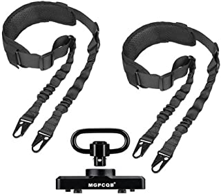 Aecktech Two Points Sling with Mloks&Keymod QD Quick-Disconnect Swivel 1.25 Inch Adapter,Extra Long Length Sling Adjustabl...