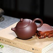 FACAIA Dzbanek fioletowy glina czajniczek do herbaty cement wyjaśnienie (kolor: Zestaw Xishi purpurowy)