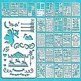 Juego de plantillas para diario, 30 piezas Dibujo Pintura Plantilla Diario Planificador Plantillas para diario, álbum de...