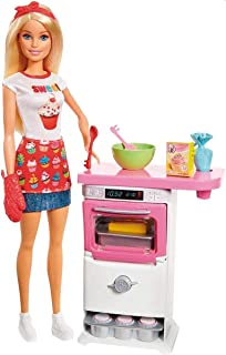 Barbie Doll with Oven & Rising Food, Gift for 3 to 7 Year Olds