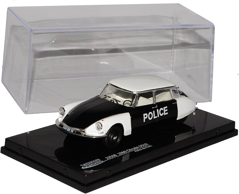 Vitesse Citroen DS19 Limousine Weiss Schwarz Police Polizei Paris 1960 1 43 Modell Auto mit individiuellem Wunschkennzeichen B010C3EU5U Kindheit Spaß  | Genial Und Praktisch